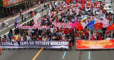 ドゥテルテ大統領が最後の施政方針演説 超法規的殺害を正当化 各地で抗議、2人が射殺
